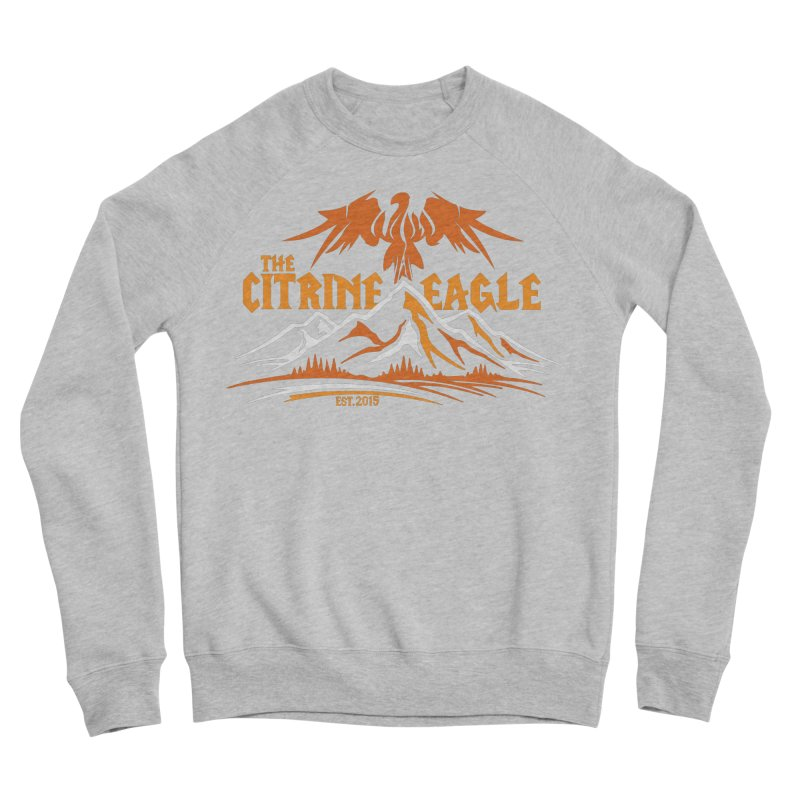The Citrine Eagle - Mountain Collection I Women's Sponge Fleece Sweatshirt by The Citrine Eagle Shop