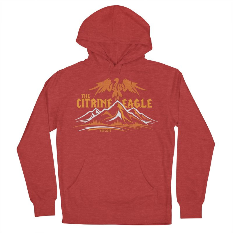 The Citrine Eagle - Mountain Collection I Men's French Terry Pullover Hoody by The Citrine Eagle Shop