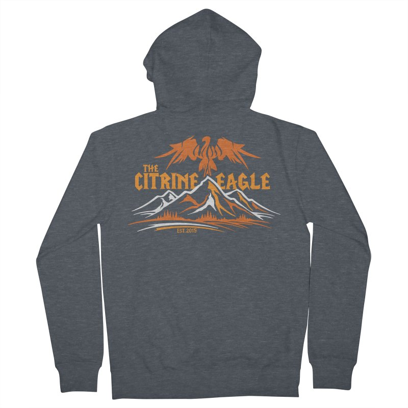 The Citrine Eagle - Mountain Collection I Men's French Terry Zip-Up Hoody by The Citrine Eagle Shop