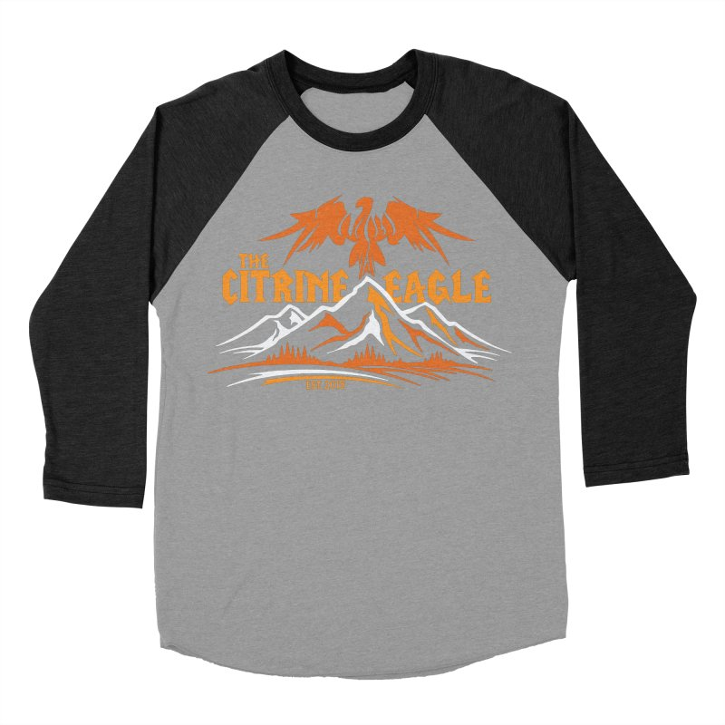 The Citrine Eagle - Mountain Collection I Men's Baseball Triblend Longsleeve T-Shirt by The Citrine Eagle Shop