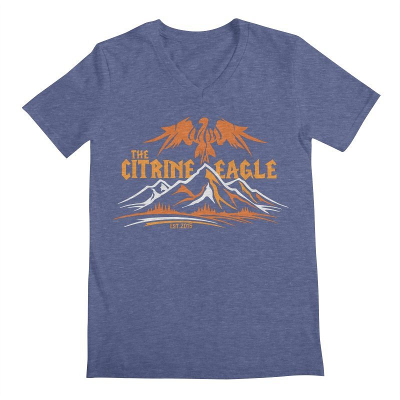 The Citrine Eagle - Mountain Collection I Men's V-Neck by The Citrine Eagle Shop