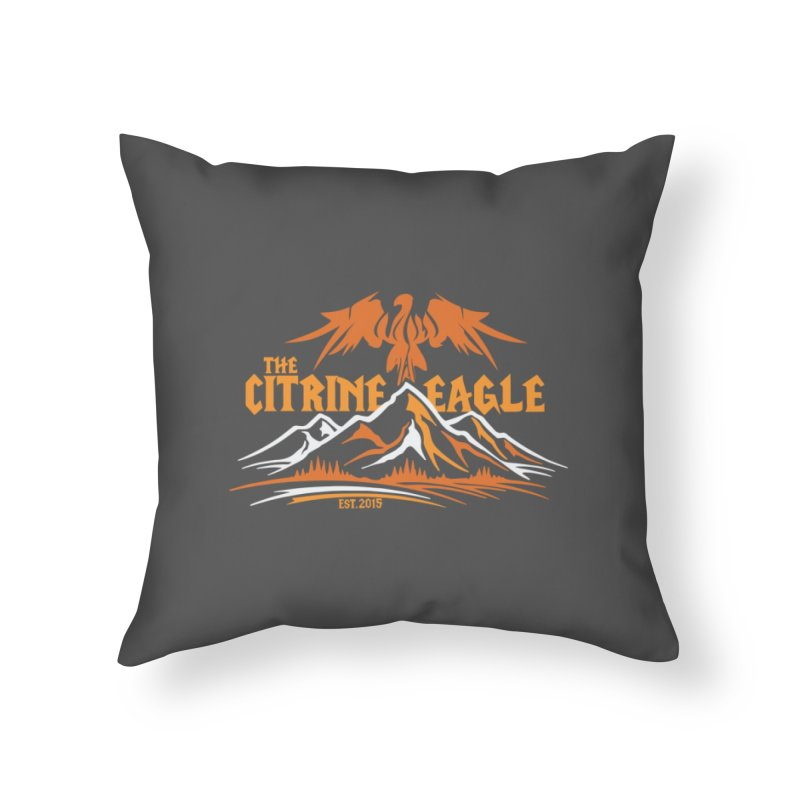 The Citrine Eagle - Mountain Collection I Home Throw Pillow by The Citrine Eagle Shop
