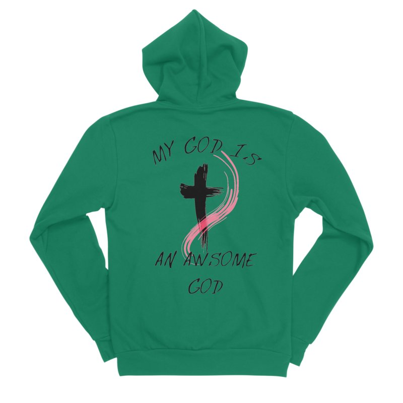Awsome God Men's Sponge Fleece Zip-Up Hoody by theclearword's Artist Shop