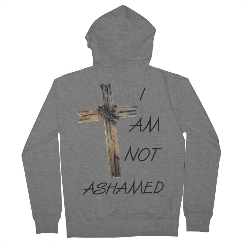 Not Ashamed Men's French Terry Zip-Up Hoody by theclearword's Artist Shop