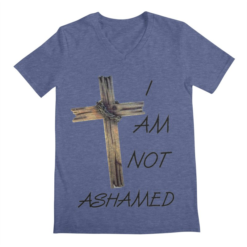Not Ashamed Men's Regular V-Neck by theclearword's Artist Shop