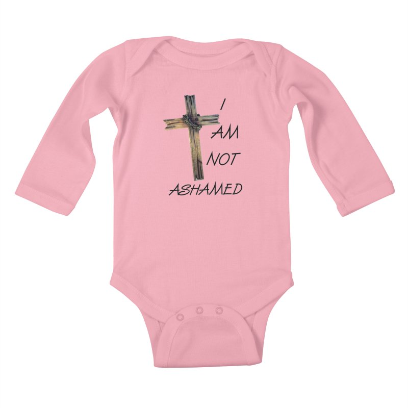 Not Ashamed Kids Baby Longsleeve Bodysuit by theclearword's Artist Shop