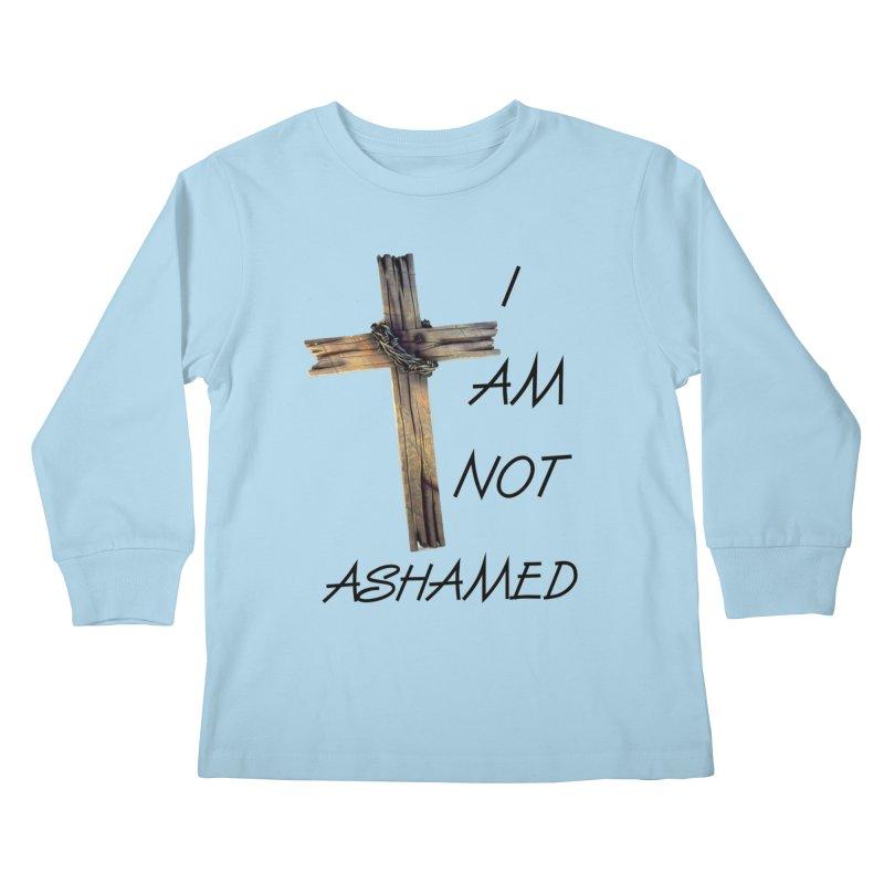 Not Ashamed Kids Longsleeve T-Shirt by theclearword's Artist Shop