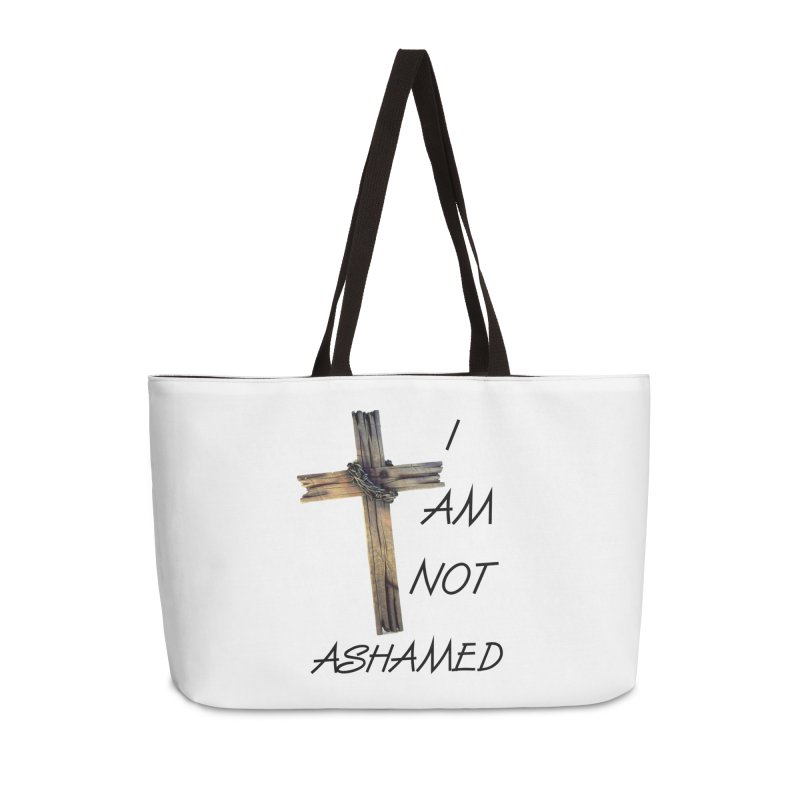 Not Ashamed Accessories Weekender Bag Bag by theclearword's Artist Shop