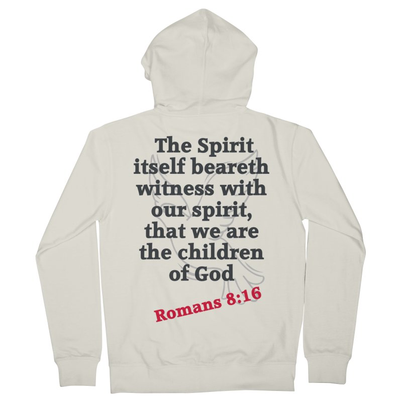 Spirit Witness Men's Zip-Up Hoody by theclearword's Artist Shop