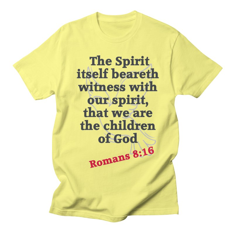 Spirit Witness Men's Regular T-Shirt by theclearword's Artist Shop
