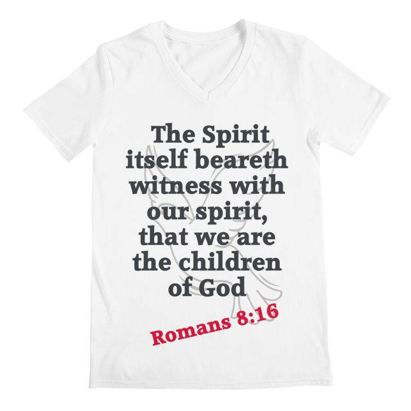 Spirit Witness Men's V-Neck by theclearword's Artist Shop