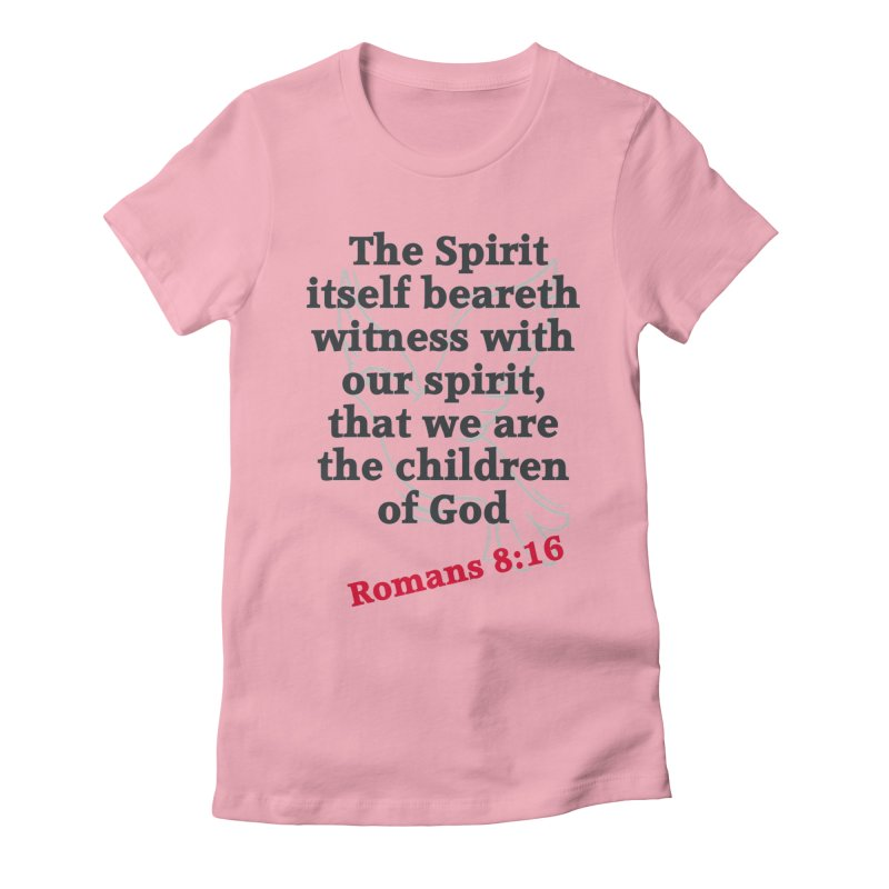 Spirit Witness Women's Fitted T-Shirt by theclearword's Artist Shop