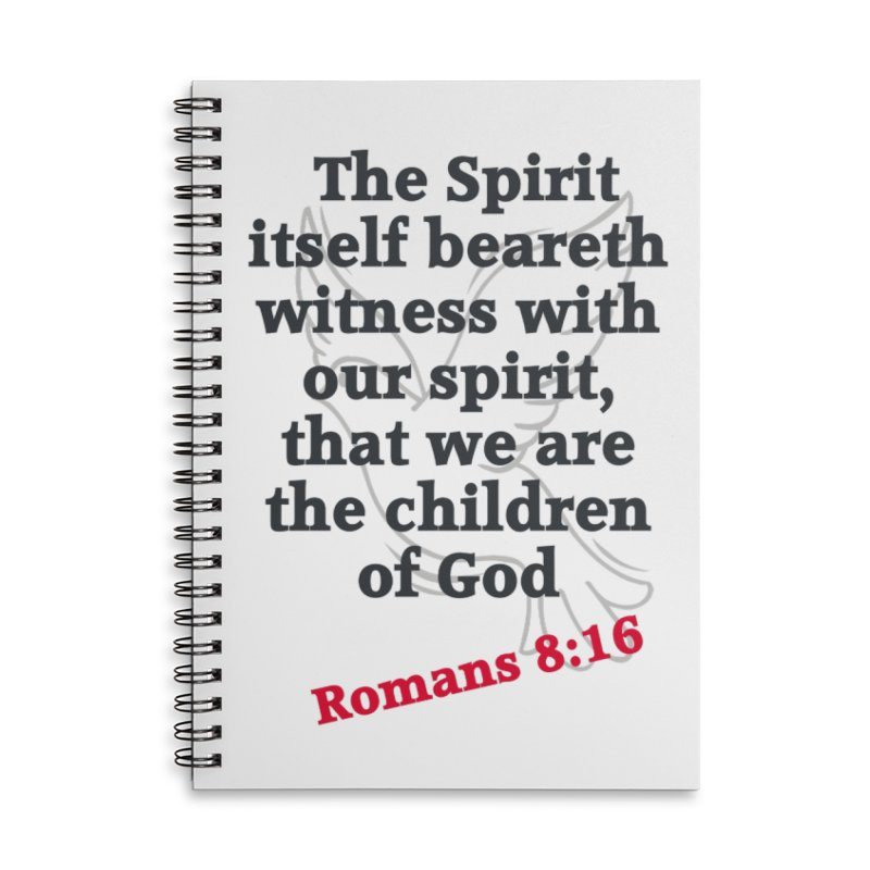 Spirit Witness Accessories Notebook by theclearword's Artist Shop