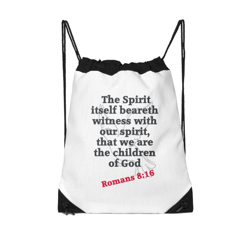 Spirit Witness Accessories Drawstring Bag Bag by theclearword's Artist Shop