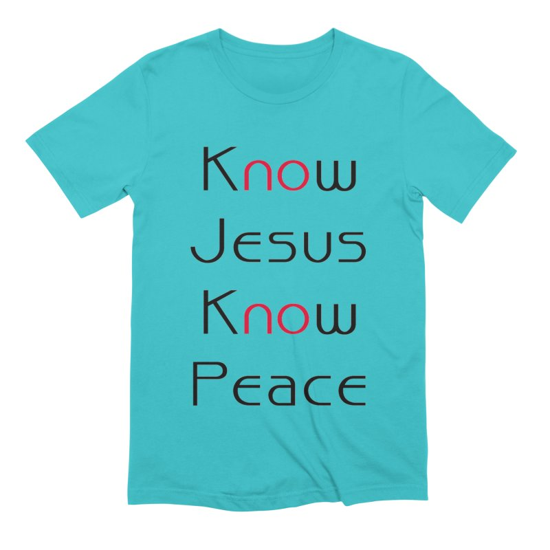 Know Jesus Men's Extra Soft T-Shirt by theclearword's Artist Shop
