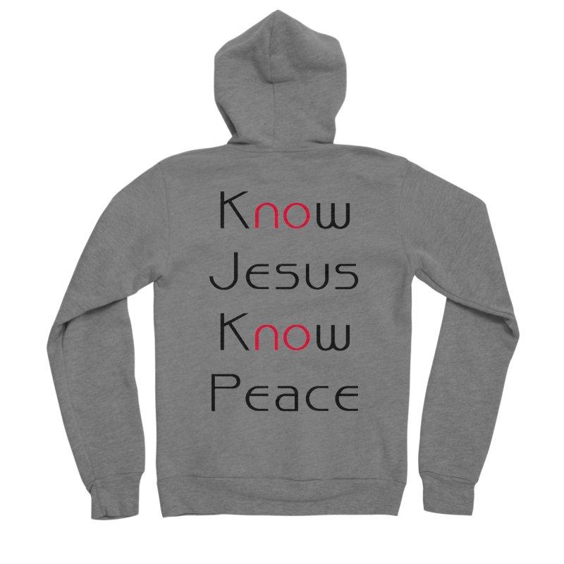 Know Jesus Men's Sponge Fleece Zip-Up Hoody by theclearword's Artist Shop