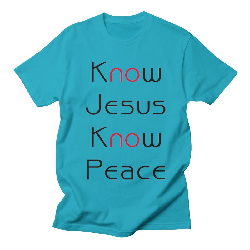 Know Jesus Men's Regular T-Shirt by theclearword's Artist Shop