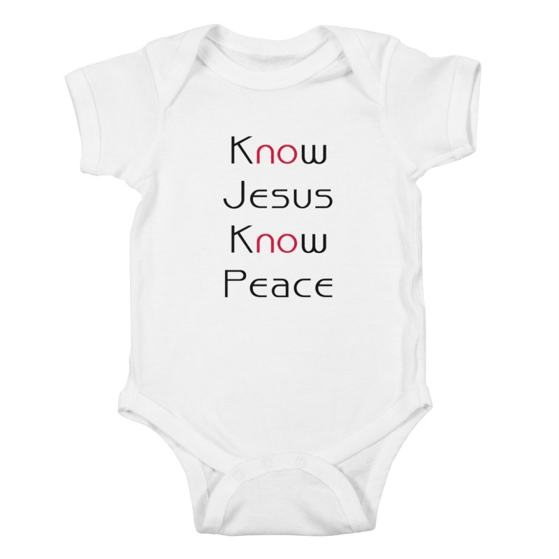 Know Jesus Kids Baby Bodysuit by theclearword's Artist Shop