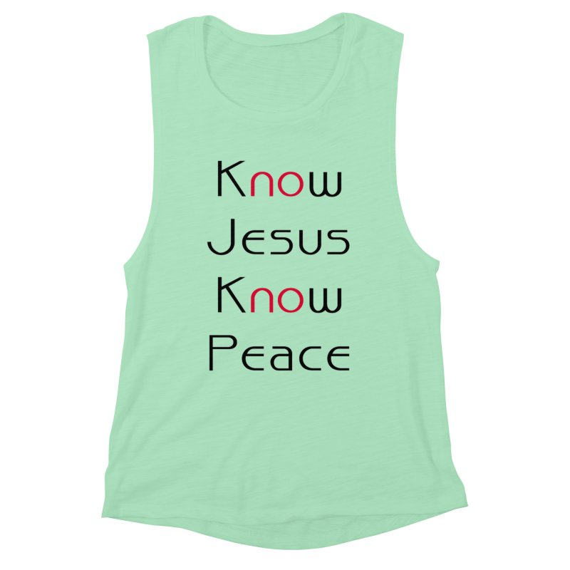 Know Jesus Women's Tank by theclearword's Artist Shop