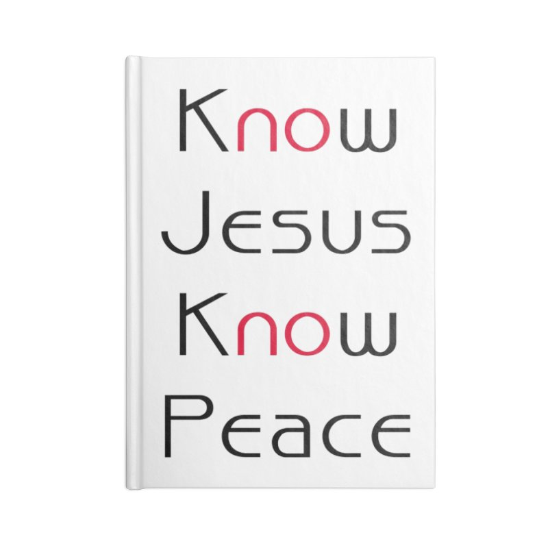 Know Jesus Accessories Notebook by theclearword's Artist Shop