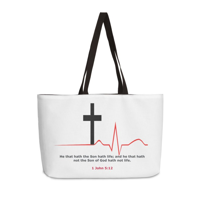 Hath Life Accessories Weekender Bag Bag by theclearword's Artist Shop
