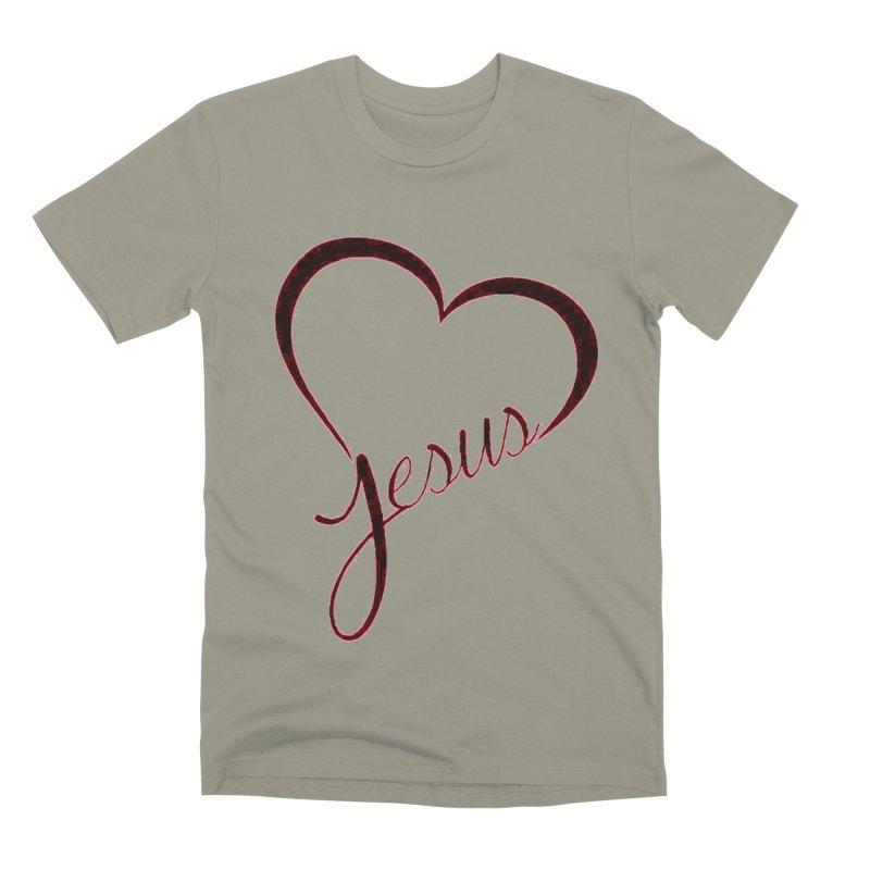 Heart Jesus Men's Premium T-Shirt by theclearword's Artist Shop