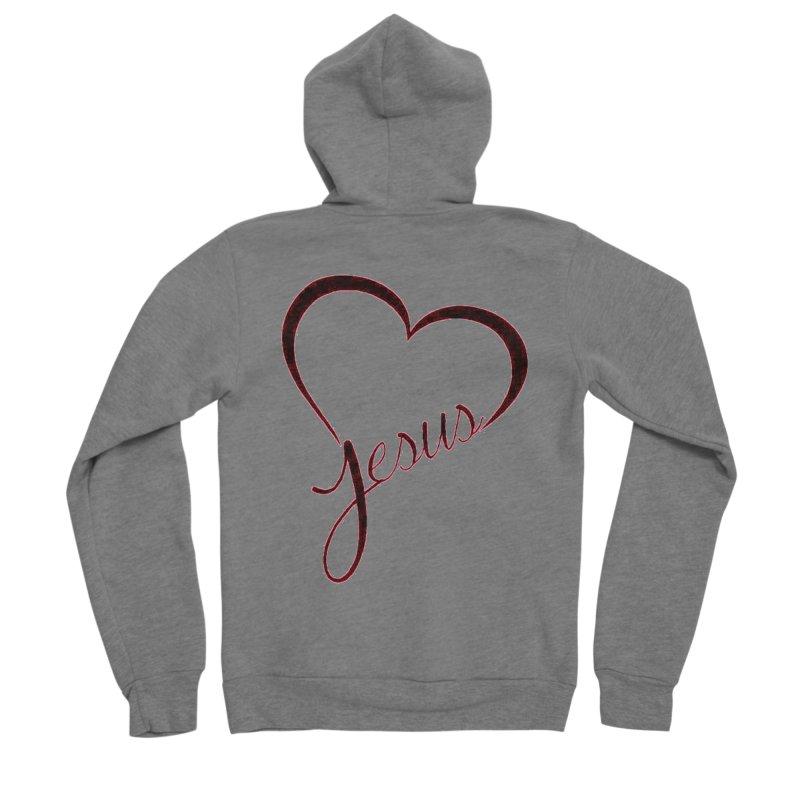 Heart Jesus Men's Zip-Up Hoody by theclearword's Artist Shop