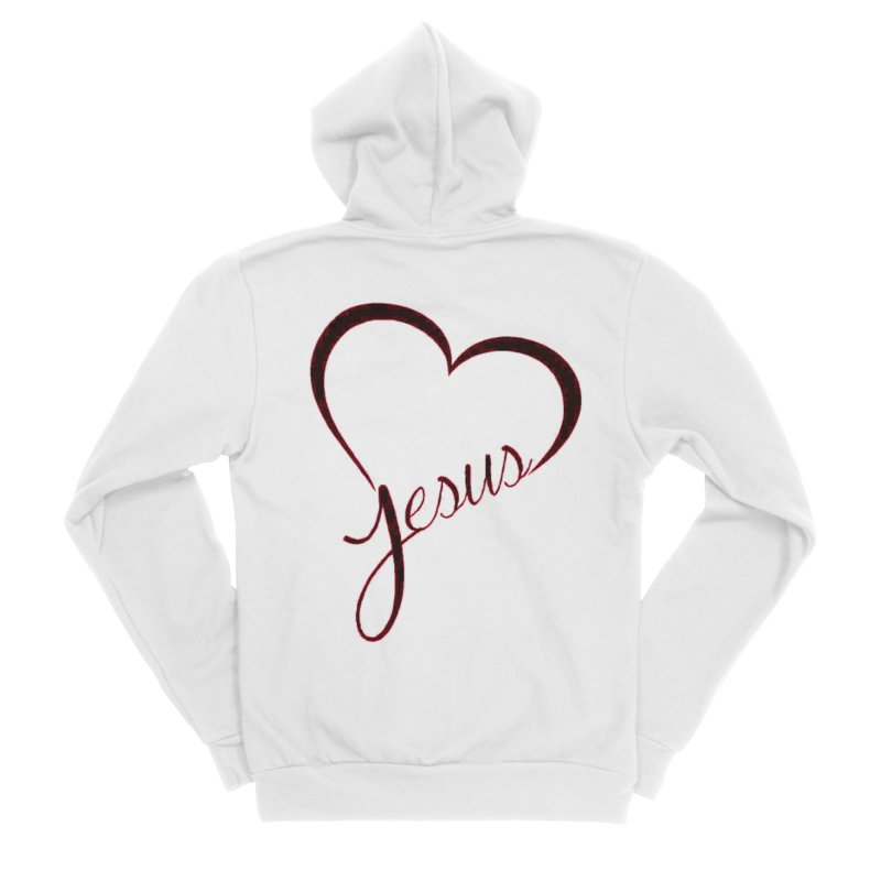 Heart Jesus Men's Zip-Up Hoody by theclearword's Artist Shop