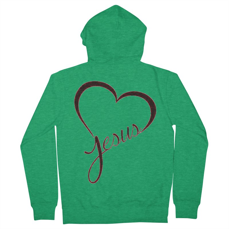Heart Jesus Women's Zip-Up Hoody by theclearword's Artist Shop