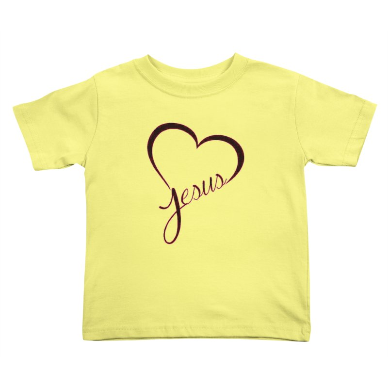 Heart Jesus Kids Toddler T-Shirt by theclearword's Artist Shop