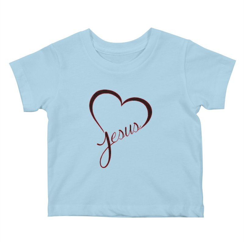Heart Jesus Kids Baby T-Shirt by theclearword's Artist Shop