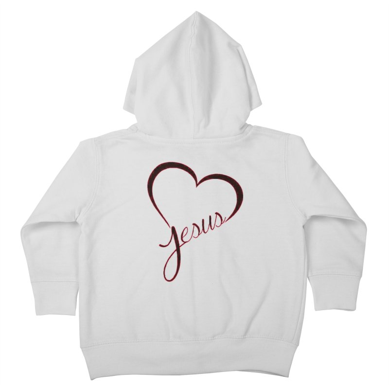 Heart Jesus Kids Toddler Zip-Up Hoody by theclearword's Artist Shop