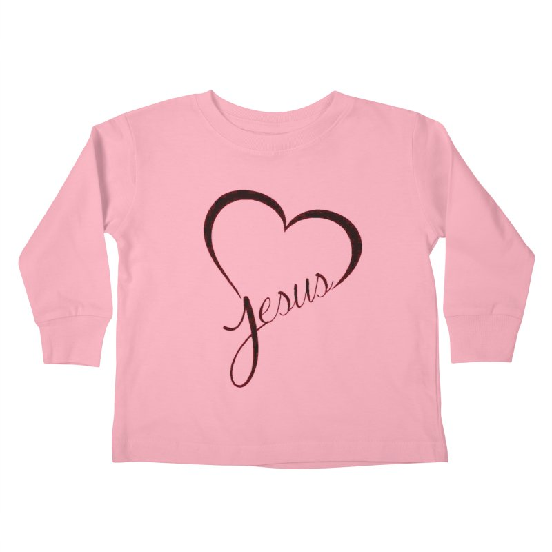 Heart Jesus Kids Toddler Longsleeve T-Shirt by theclearword's Artist Shop
