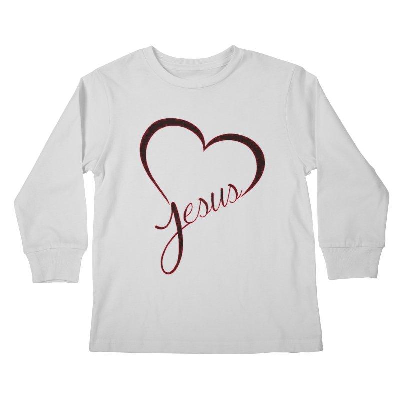 Heart Jesus Kids Longsleeve T-Shirt by theclearword's Artist Shop