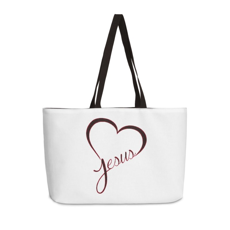 Heart Jesus Accessories Weekender Bag Bag by theclearword's Artist Shop