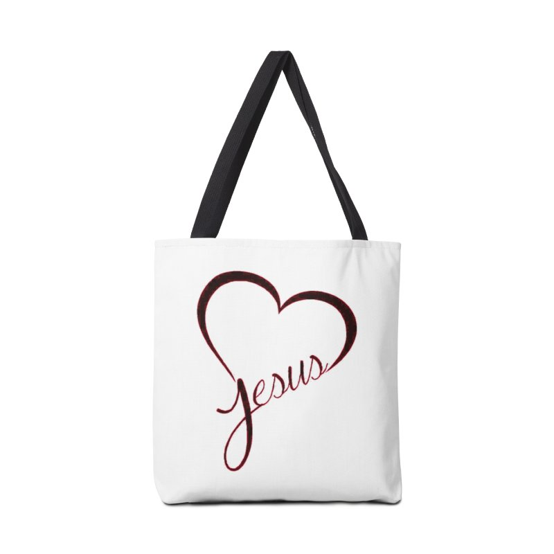 Heart Jesus Accessories Bag by theclearword's Artist Shop