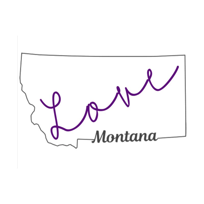 Montana Love Kids T-Shirt by theclearword's Artist Shop