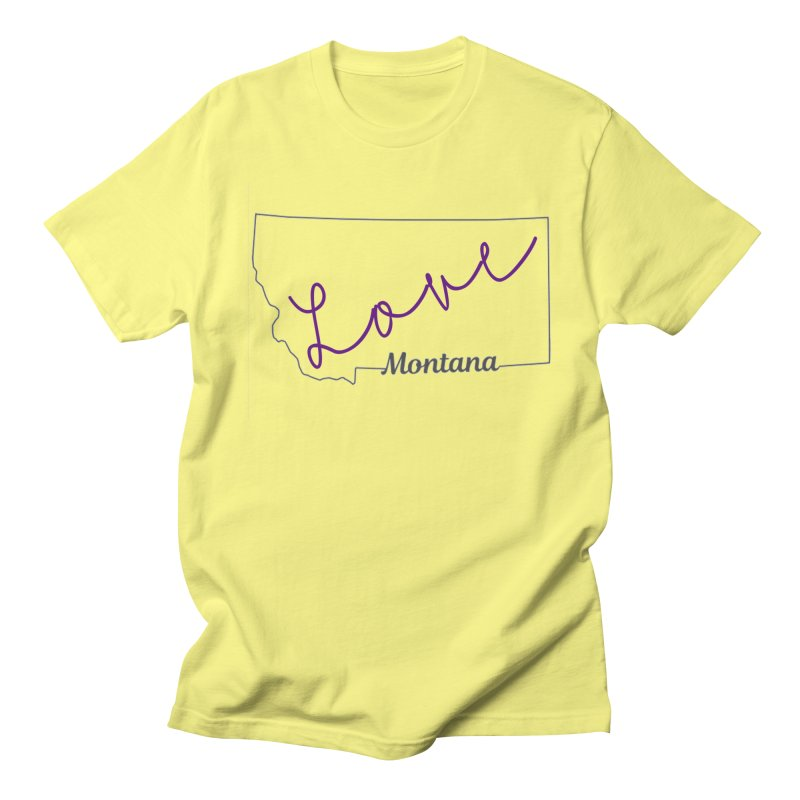 Montana Love Men's Regular T-Shirt by theclearword's Artist Shop