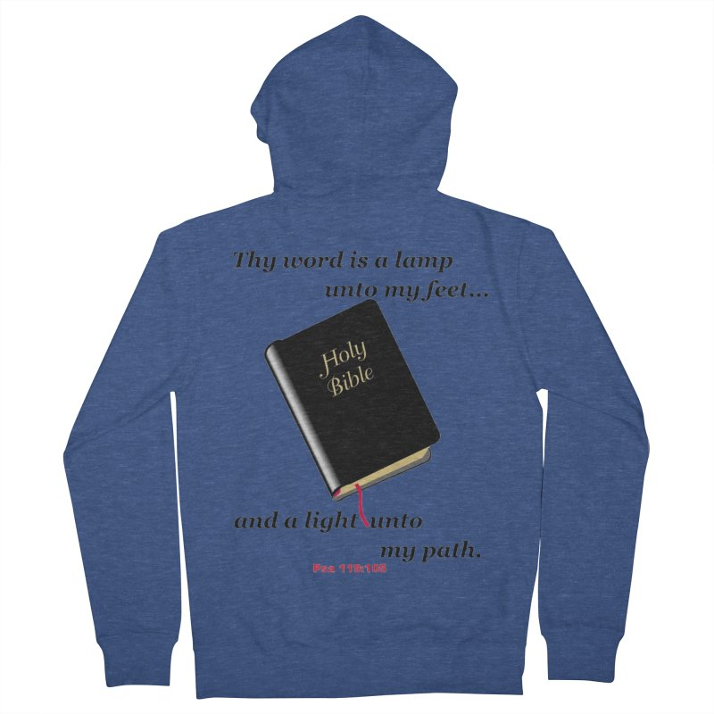Thy Word Men's Zip-Up Hoody by theclearword's Artist Shop