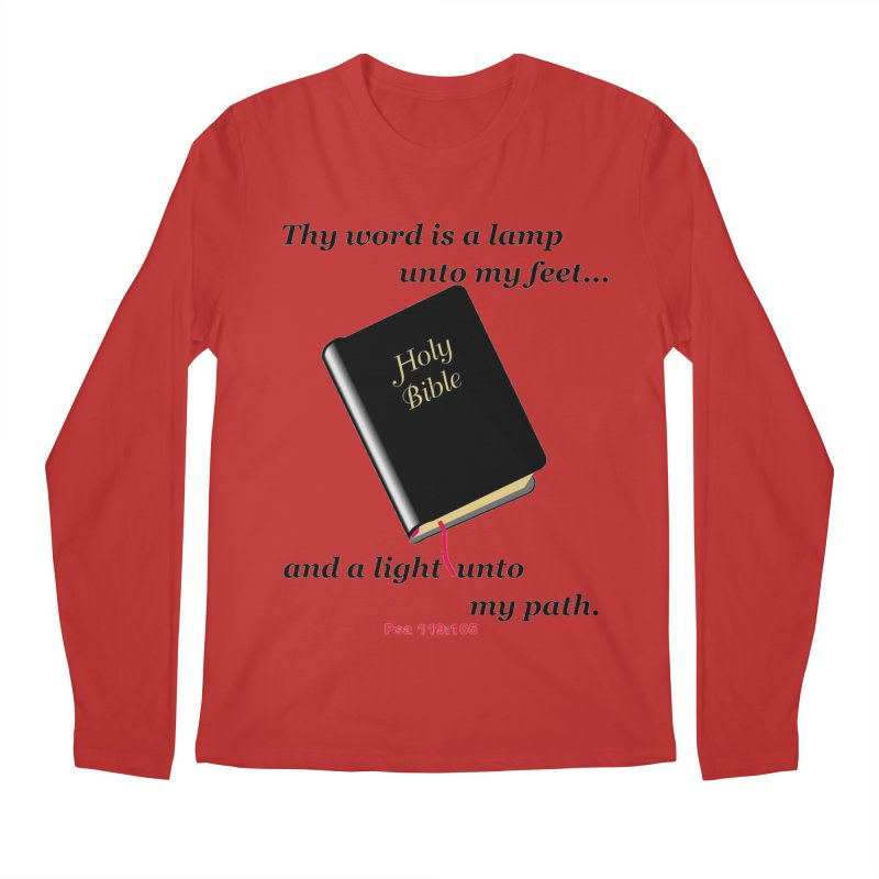 Thy Word Men's Regular Longsleeve T-Shirt by theclearword's Artist Shop