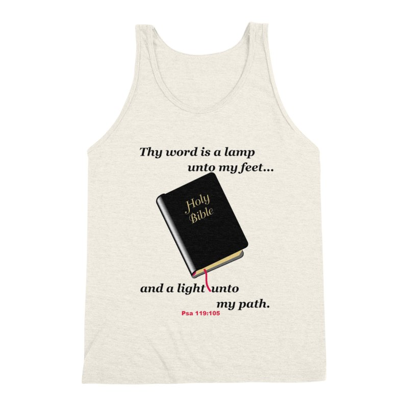 Thy Word Men's Triblend Tank by theclearword's Artist Shop