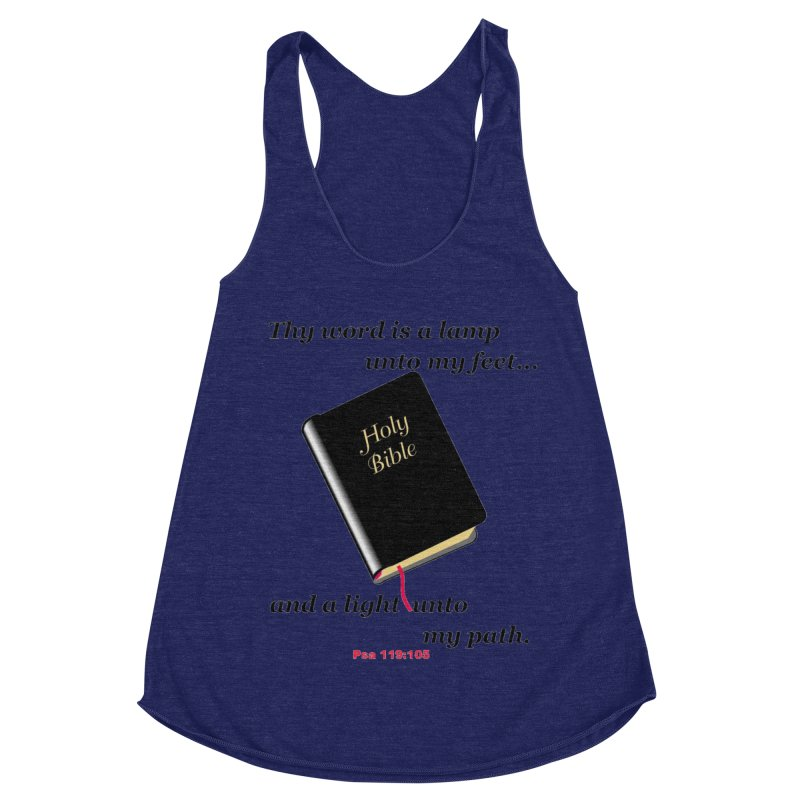 Thy Word Women's Racerback Triblend Tank by theclearword's Artist Shop