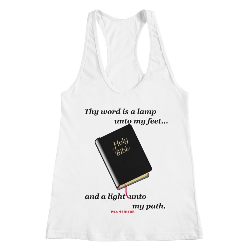 Thy Word Women's Racerback Tank by theclearword's Artist Shop