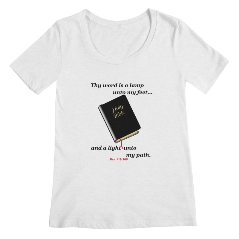 Thy Word Women's Regular Scoop Neck by theclearword's Artist Shop
