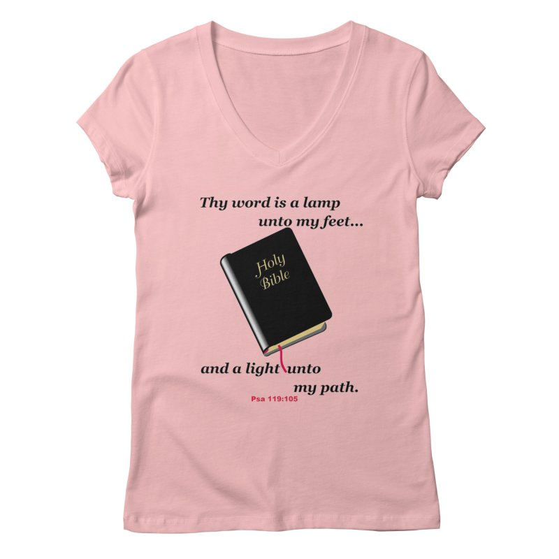 Thy Word Women's Regular V-Neck by theclearword's Artist Shop