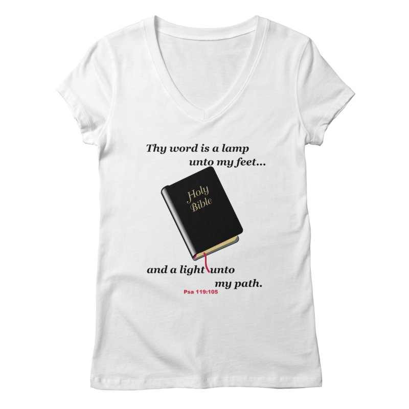 Thy Word Women's V-Neck by theclearword's Artist Shop