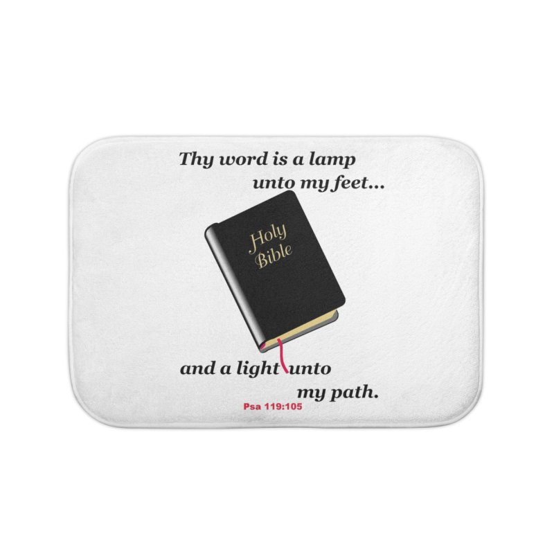 Thy Word Home Bath Mat by theclearword's Artist Shop