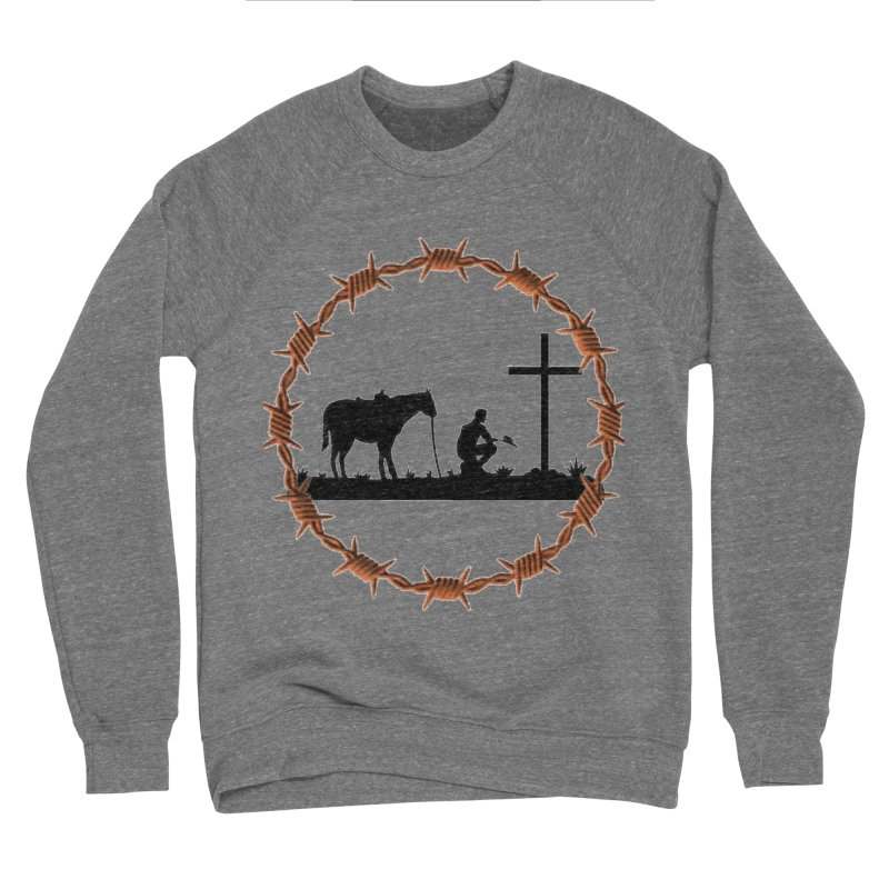 Cowboy Cross Men's Sweatshirt by theclearword's Artist Shop