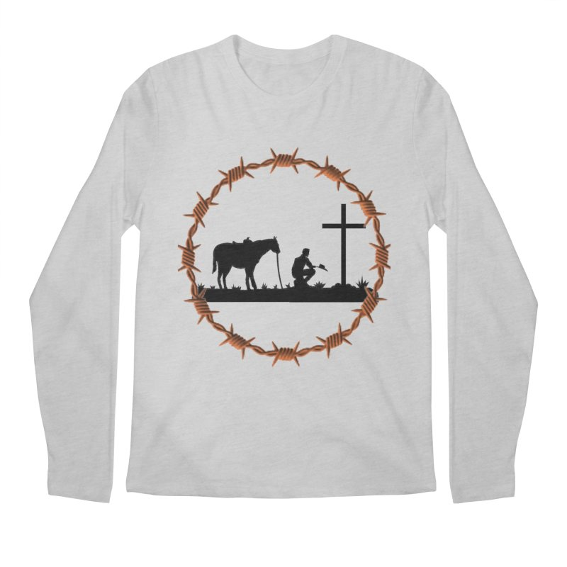 Cowboy Cross Men's Longsleeve T-Shirt by theclearword's Artist Shop