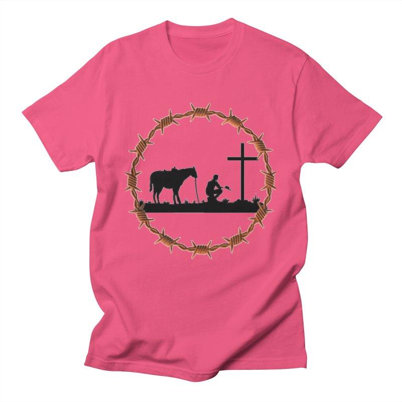 Cowboy Cross Men's T-Shirt by theclearword's Artist Shop